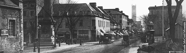 Rue Notre-Dame, Montréal, QC, vers 1870